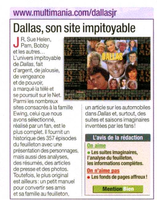 Dallas, son site impitoyable (Micro Hebdo, octobre 2001)